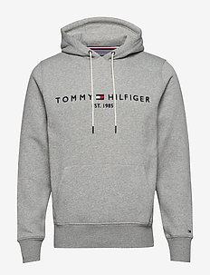 TOMMY LOGO HOODY - hoodies - cloud htr