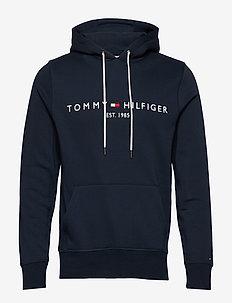 TOMMY LOGO HOODY - hoodies - sky captain