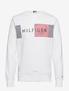 HILFIGER LOGO SWEATS - BRIGHT WHITE