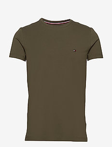STRETCH SLIM FIT TEE - kortærmede t-shirts - army green