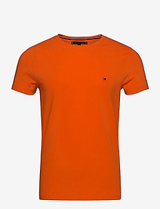 STRETCH SLIM FIT TEE - short-sleeved t-shirts - princeton orange