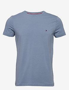 STRETCH SLIM FIT TEE - basis-t-skjorter - washed ink