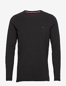 STRETCH SLIM FIT LON - basic t-shirts - black