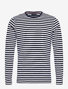 STRETCH SLIM FIT LON - basic t-shirts - desert sky/white