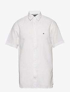 COTTON LINEN SHIRT S - BRIGHT WHITE
