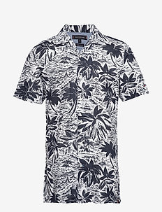 HAWAIIAN PRINT SHIRT - EVENTIDE / BRIGHT WHITE / MULT