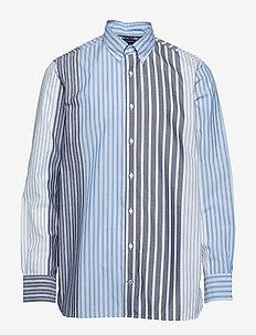 RELAXED MIXED STRIPE - chemises décontractées - cornflower blue / multi