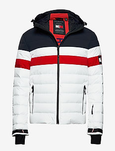 THXR CLRBLOCK QUILTED DOWN JKT - BRIGHT WHITE