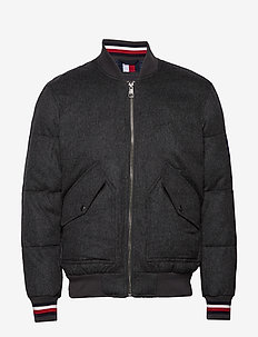 ICON WOOL QUILTED BOMBER - vestes bomber - dark grey heather