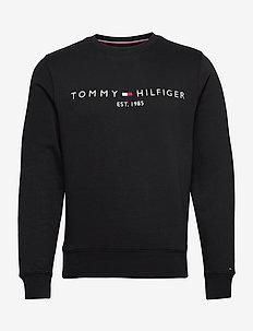 TOMMY LOGO SWEATSHIRT - tops - jet black