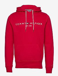 TOMMY LOGO HOODY - hoodies - primary red