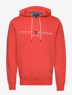 TOMMY LOGO HOODY - hoodies - washed vermillion