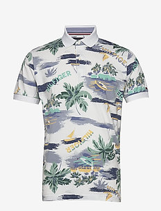 SUMMER PRINT REGULAR POLO - WHITE