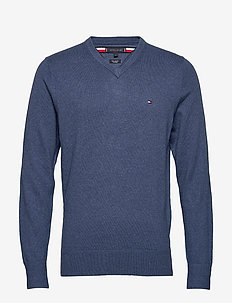 PIMA COTTON CASHMERE - basic gebreide truien - vintage indigo heather