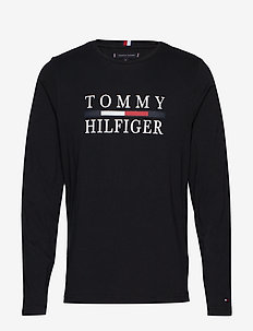 TOMMY HILFIGER LONG SLEEVE TEE - JET BLACK