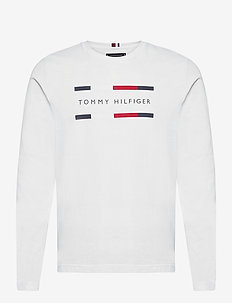 CORP TOMMY HILFIGER LONG SLV TEE - t-shirts à manches longues - bright white