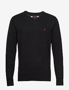 LUXURY TOUCH V NECK - basic knitwear - black