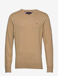 LUXURY TOUCH V NECK - basic knitwear - classic khaki heather