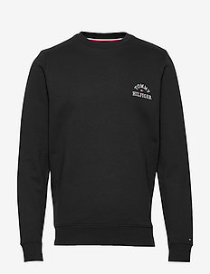 BASIC EMBROIDERED SWEATSHIRT - sweatshirts - black