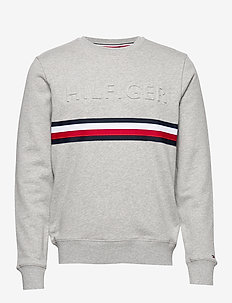 HILFIGER EMBOSSED SW - MEDIUM GREY HEATHER