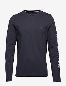 TOMMY LOGO LONG SLEEVE TEE - DESERT SKY