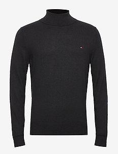 LUXURY TOUCH ROLL NE - basic knitwear - black