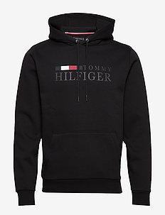 BASIC HILFIGER HOODY - BLACK