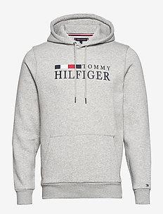 BASIC HILFIGER HOODY - cloud heather