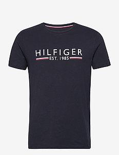 HILFIGER 1985 TEE - short-sleeved t-shirts - desert sky