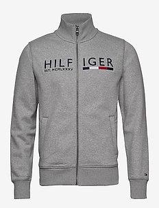 IM HILFIGER LOGO ZIP - CLOUD HEATHER