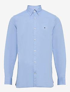 SLIM FLEX ESSENTIAL DOBBY SHIRT - podstawowe koszulki - copenhagen blue
