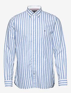 COTTON LINEN MULTI S - chemises décontractées - copenhagen blue / white