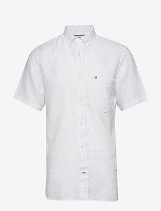 LINEN SHIRT S/S - koszule lniane - white