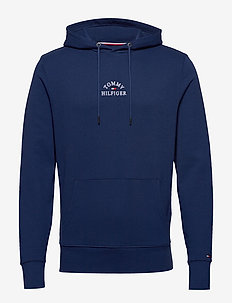 BASIC EMBROIDERED HO - hoodies - blue ink