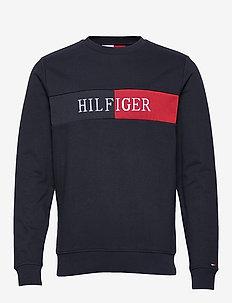 HILFIGER INTARSIA SWEATSHIRT - sweatshirts - desert sky