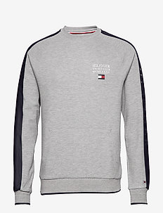 TH FLEX NYLN PANELED  SWEATSHIRT - basic sweatshirts - medium grey heather