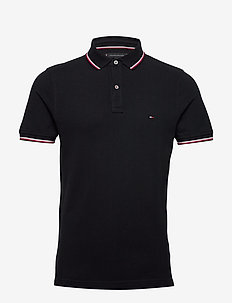 CORE TOMMY TIPPED SLIM POLO - short-sleeved polos - desert sky