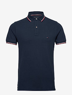 CORE TOMMY TIPPED SLIM POLO - kortermede - pitch blue