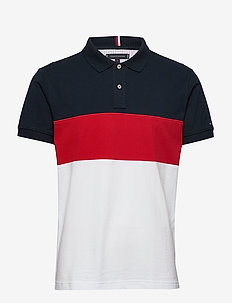 COLORBLOCK REGULAR P - polos à manches courtes - desert sky / primary red / mul