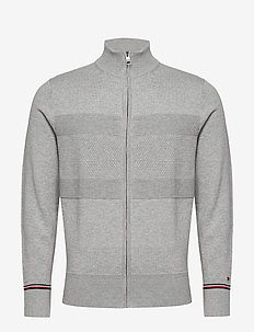 STRUCTURED FLAG ZIP THROUGH - cardigans - medium grey heather