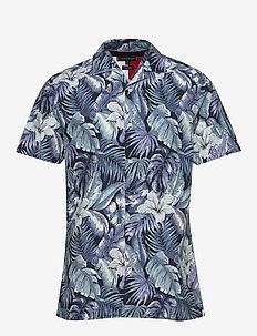 HAWAIIAN PRINT SHIRT S/S - hørskjorter - washed ink / multi