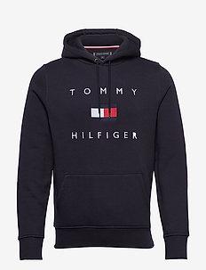 TOMMY FLAG HILFIGER HOODY - hoodies - desert sky