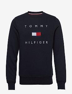 TOMMY FLAG HILFIGER SWEATSHIRT - sweatshirts - desert sky