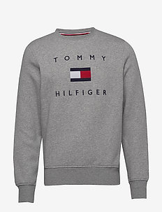 TOMMY FLAG HILFIGER SWEATSHIRT - sweatshirts - medium grey heather