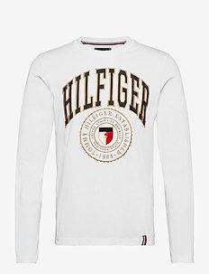 HILFIGER VARISTY LONG SLEEVE TEE - long-sleeved t-shirts - white