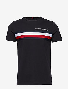 GLOBAL STRIPE TEE - kortærmede t-shirts - desert sky