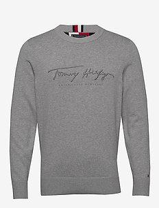 TONAL AUTOGRAPH SWEATER - rund hals - medium grey heather