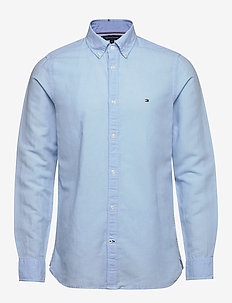 SLIM GARMENT DYED CO/LI SHIRT - basic skjorter - calm blue