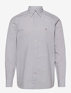 MICRO BANDANA PRINT SHIRT - casual shirts - white / blue ink