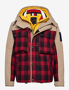 3 IN 1 CHECK JACKET - parkas - surplus khaki